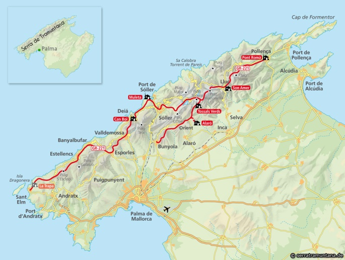 Map Of South West Coast Of Spain.Spain A Wee Walk